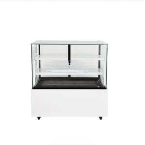 Square Glass Deli Display Refrigerator Showcase