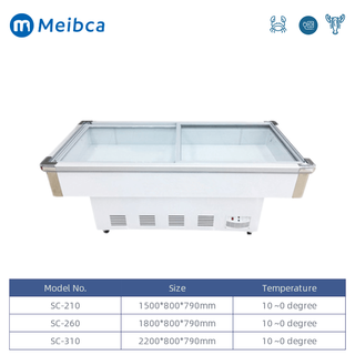 Restaurant Fresh Fish Seafood Display Fridge Chiller