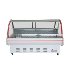 Deli Case As Butcher Equipment Cold Food Chiller Cabinet Meat Display Chiller