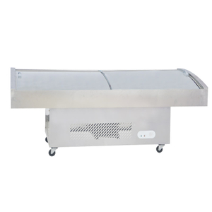 Supermarket Seafood Deli Display Refrigerator Showcase With Curved Glass