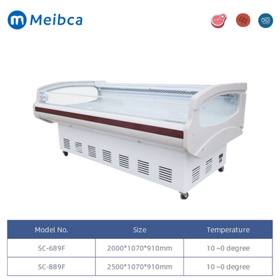 Commercial Supermarket Fan Cooling Meat Display Case